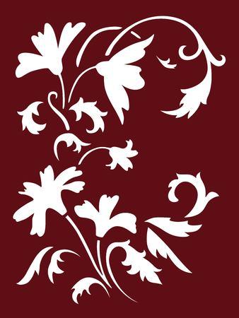 Flowers spring stencils