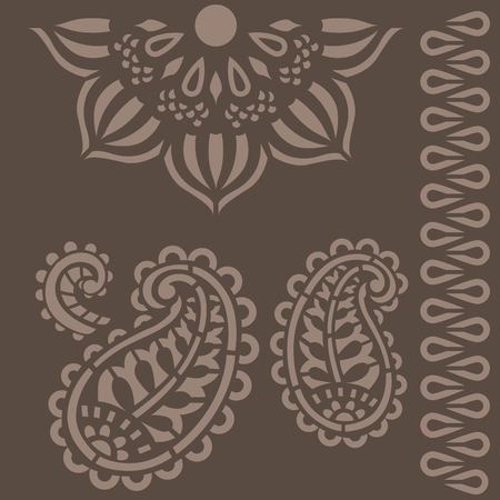 Indian ornament stencils