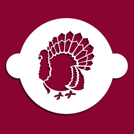 Thanksgiving bird stencil