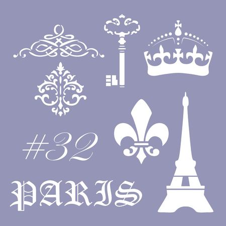 Paris stencil postcard