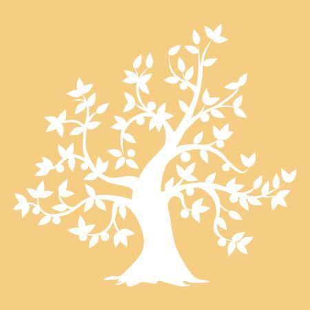 tree stencil art