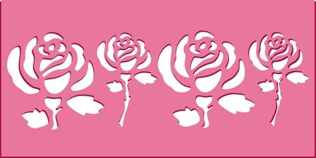 Rose stencil art