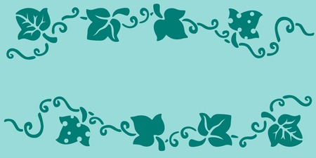 Leaves stencil art