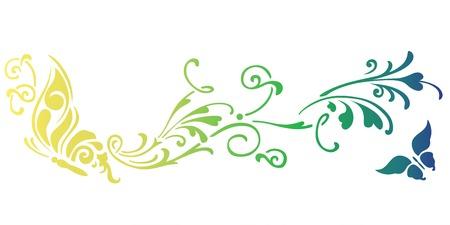 Butterfly stencil art gradient