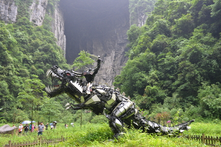 Tianlong Tiankeng dinosaur Transformers sculpture