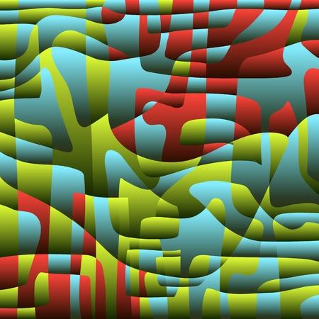 Contrast and color background.Bright volumetric backdrop creates a sense of contrast and volume. Vector. Illusztráció