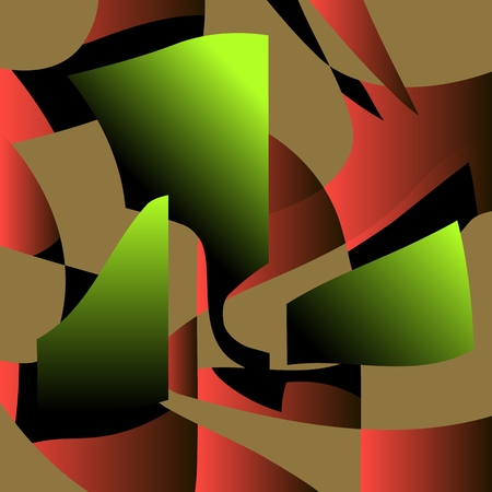 Contrast and color background. Vector illustration for poster or banner.Fragments of three-dimensional modules on an isolated background.