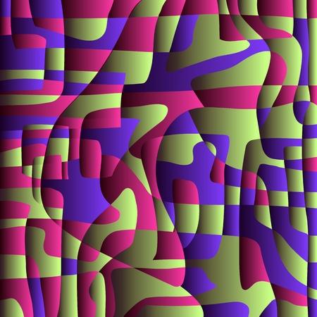 Fondo de contraste y color El fondo volumétrico brillante crea una sensación de contraste y volumen. Vector.