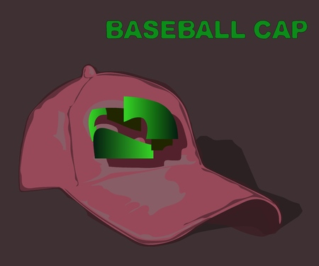 One  baseball cap with a design sign.