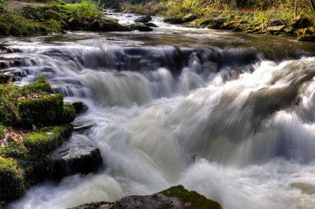 watersmeet: Watersmeet Waterfall Stock Photo