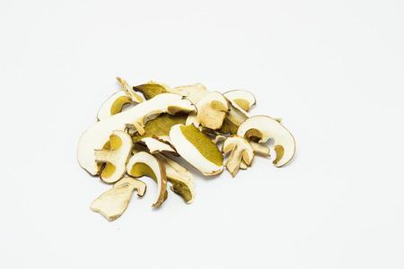 reticulatus: Dried mushrooms Boletus reticulatus. Stock Photo