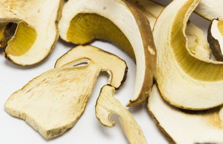 reticulatus: Dried mushrooms Boletus reticulatus, detail.