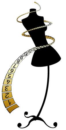 mannequin: Mannequin avec bande centim�trique or