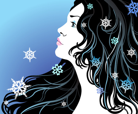 Winter girl Stock Vector - 6365649