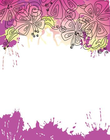 Floralen Hintergrund Illustration