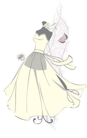 knutsel spullen: Dummy met een mooie jurk