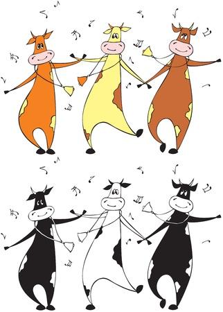 cow bells: Dancing cows