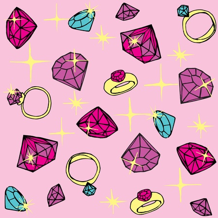 dekor: Seamless pattern with diamonds