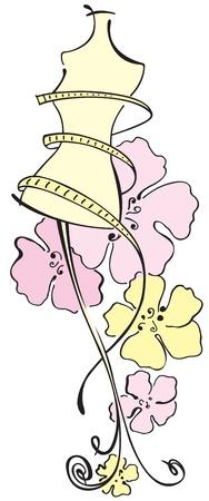 Dummy mit Blumen