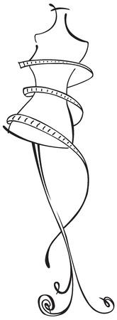 tailor measure: Disegno lineare del manichino