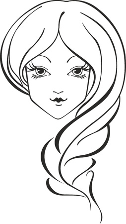 Vector portrait of young woman with braid Stock Vector - 13168735