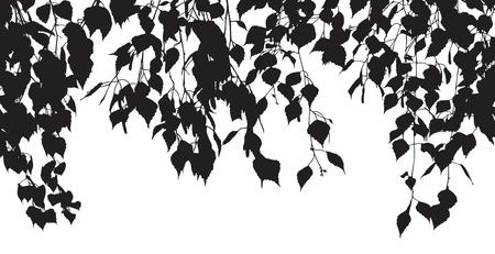 Silhouette der Blätter Illustration
