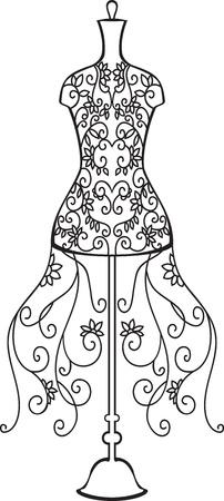 Elegante Dummy mit floralen Ornament