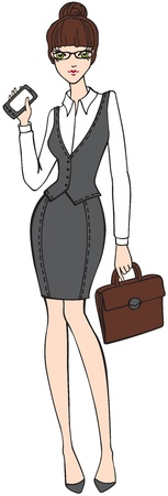 businesswoman skirt: Business lady Illustration