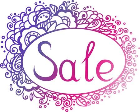 ellements: Sale template with floral ellements Illustration