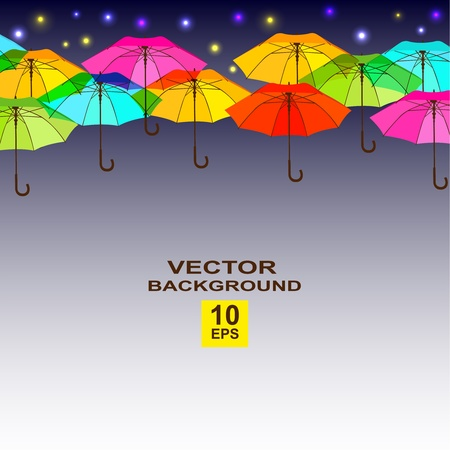 Background with bright umbrellas. Vector illustration, eps10 Vector