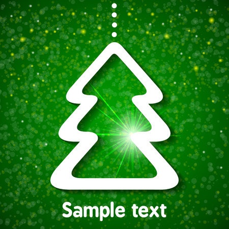Christmas background with fir-tree Vector illustration for your design  Vector