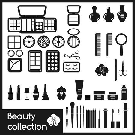 Set von Icons Kosmetik Makeup Vektor-Illustration