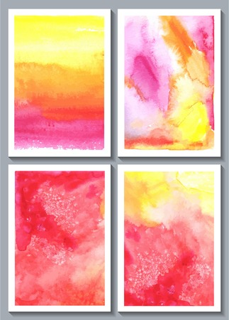 Watercolor abstract hand painted background  Vector illustration Vector