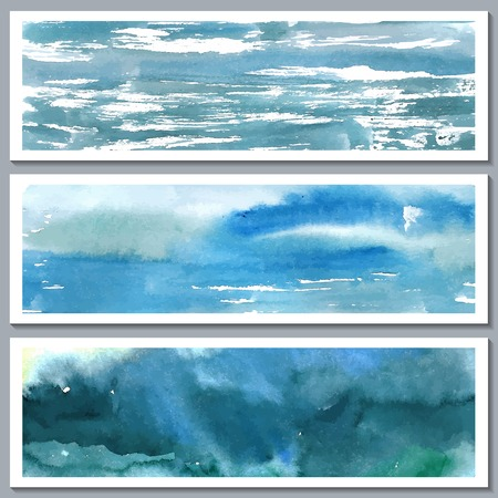 Aquarell abstrakte handgemalte Hintergrund Vektor-Illustration Illustration