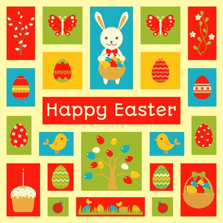 Holiday card with Easter element. Vector illustration Vector