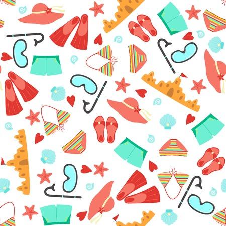 Summer seamless pattern. Vector illustration Stock Vector - 26361184