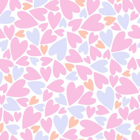 Patrones sin fisuras con corazones. Concepto de amor para su diseño de San Valentín o boda. Ilustración vectorial