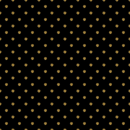 wallpaper dot: Seamless pattern background with gold glitter polka dot ornament.  Cute wallpaper. Good idea for your Wedding, Valentines Day or Birthday design. illustration