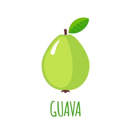 guayaba: Guayaba en el estilo plano.