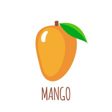 vegetarian: Mango in flat style. Illustration