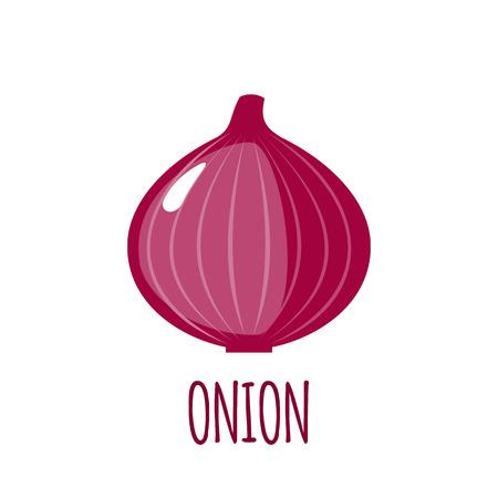 single object: Onion in flat style.