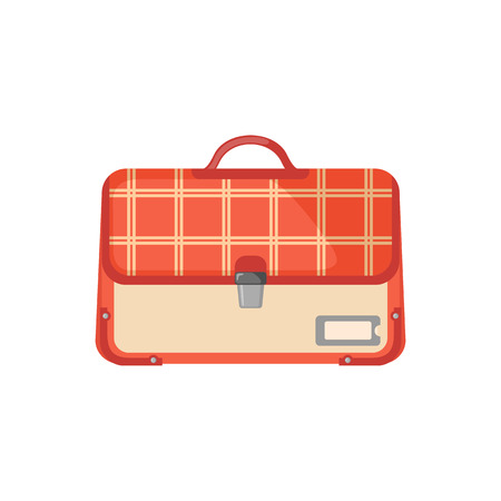 schoolbag: Schoolbag icon in flat style isolated on white background. Vector illustration. Illustration