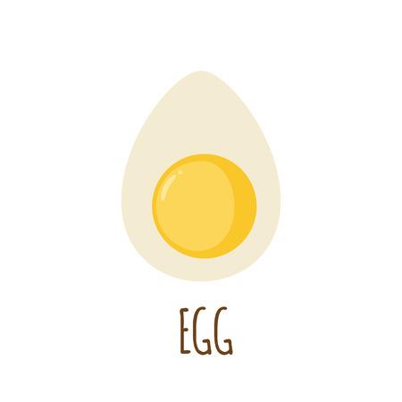 Egg icon in flat style isolated on white background. Vector illustration Illustration