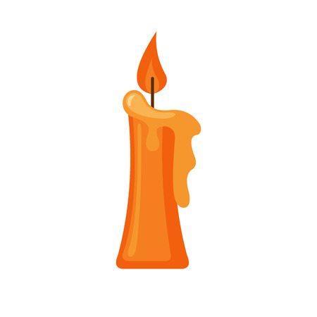 Candle icon in flat style isolated on white background. Vector illustration.