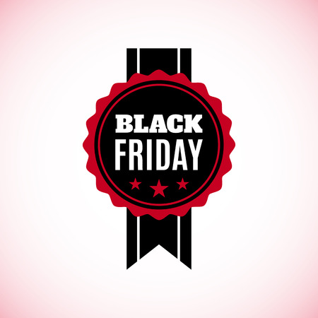 Black Friday label in falt style isolated on white background. Vector illustration