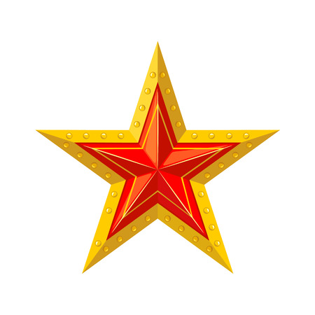 Red star with gold edging icon.