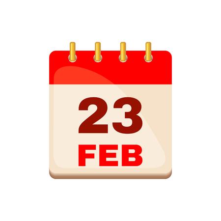 February 23 Calendar icon.