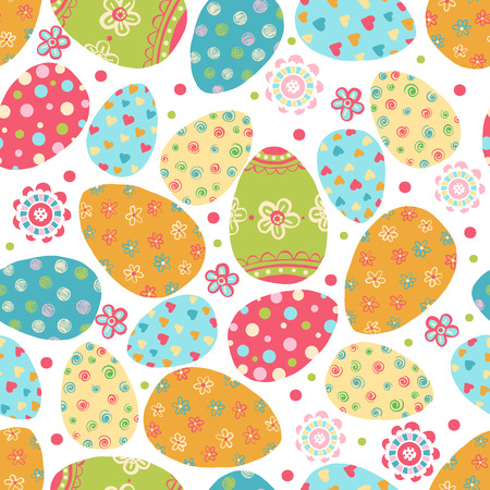 Easter seamless pattern with eggs.