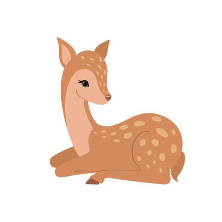 L'icône des cerfs mignons. Banque d'images - 74299996