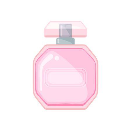 Perfume bottle icon in flat style isolated on white background. Vector illustration. Ilustração